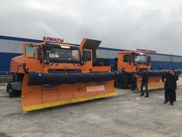 THG AG delivers to the Almaty International Airport (Kasachstan) a Compact Jet Sweeper CJS 914 Super II