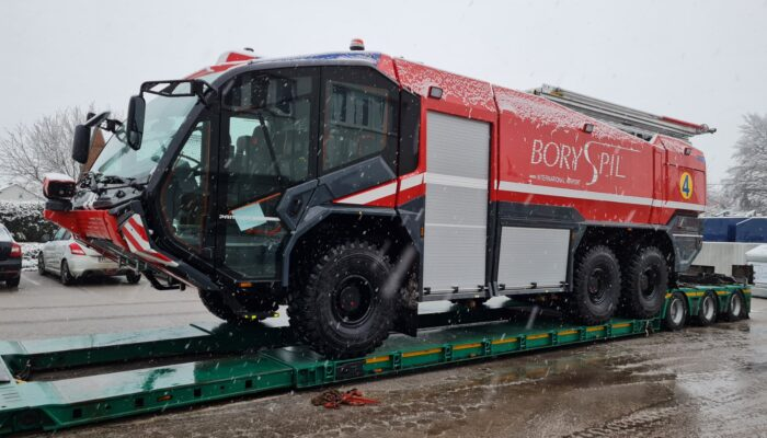 THG AG delivers to Boryspil International Airport (Ukraine) the second aircraft rescue and firefighting vehicle the Rosenbauer PANTHER 6×6