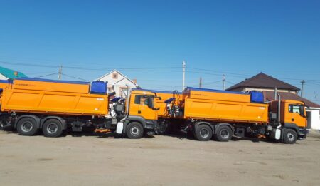 Aktuelles: THG AG has successfully concluded the handover of 8 machines for road maintenance to Kazautozhol – the Road Administration of Kazakhstan.