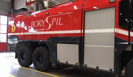 Aktuelles: Lieferung eines Rosenbauer Feuerwehrfahrzeuges Typ Panther an den Flughafen Borispol, Kiew , Ukraine
