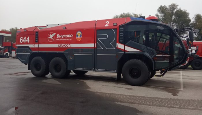 THG AG Rus carried out the delivery of two new  fire engines type Panther 6 x 6 to the Airport Vnukovo, Moscow
