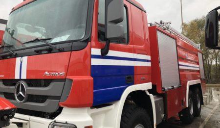 Aktuelles: Auslieferung der Flughafenfeuerwehren an den Nationalen Flughafen Minsk, Weißrussland
